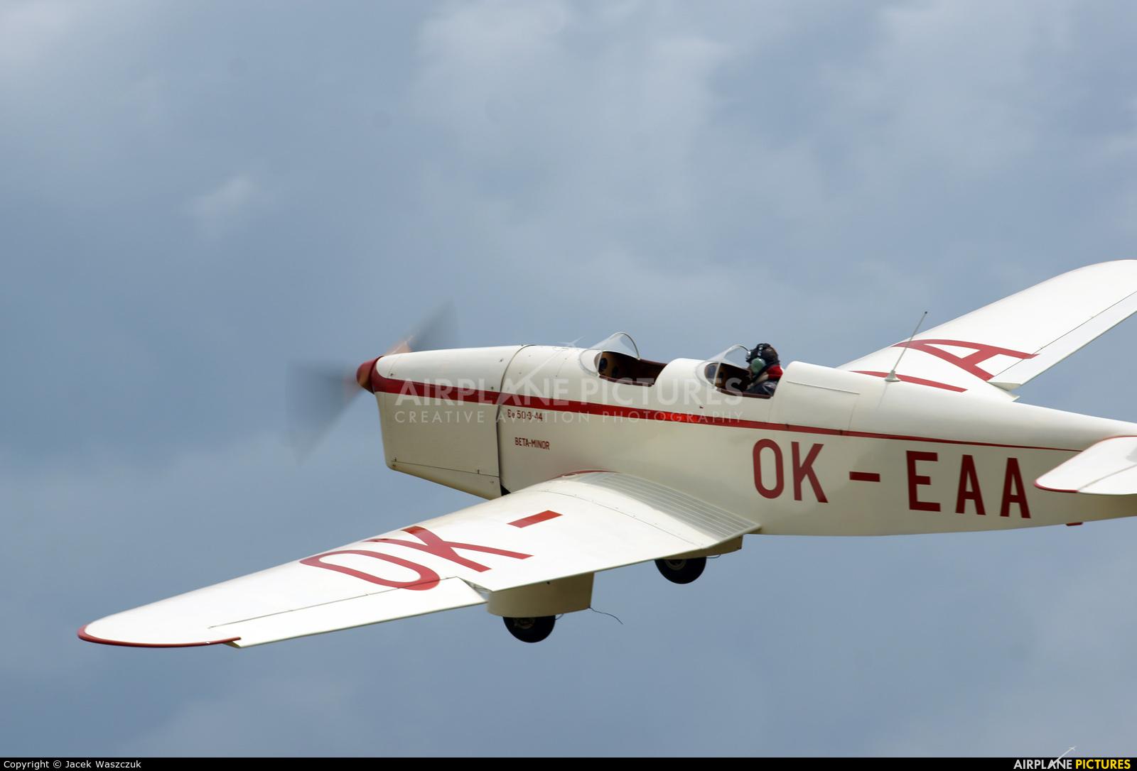 Private OK-EAA aircraft at Mladá Boleslav