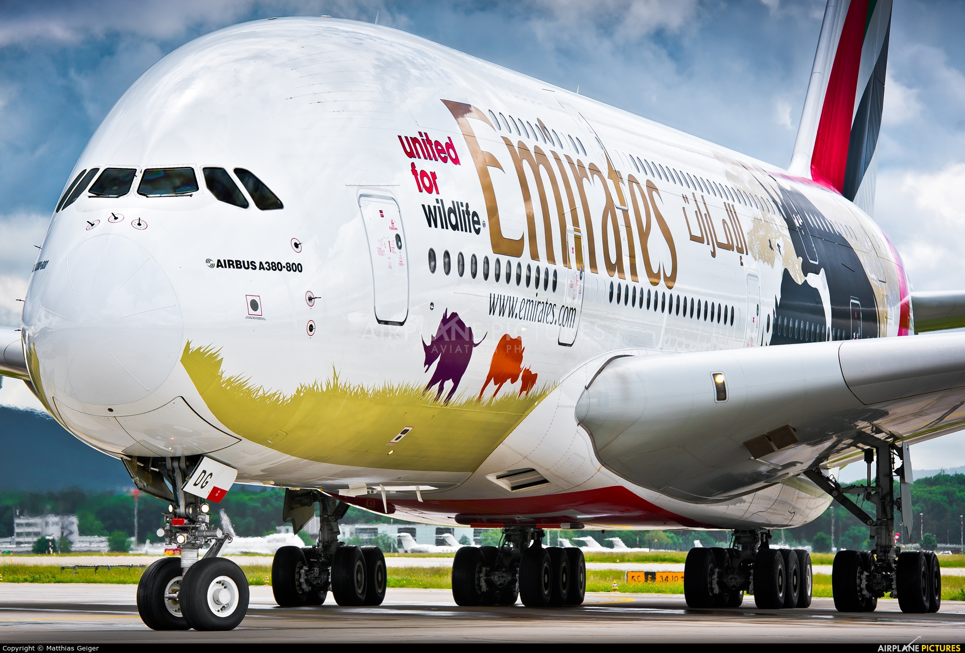 Emirates Airlines A6-EDG aircraft at Zurich