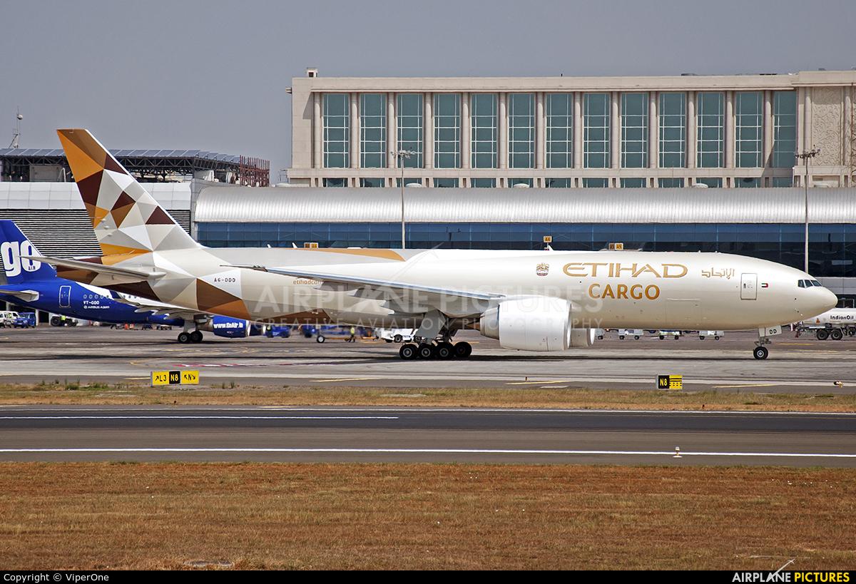 Etihad Cargo A6-DDD aircraft at Mumbai - Chhatrapati Shivaji Intl