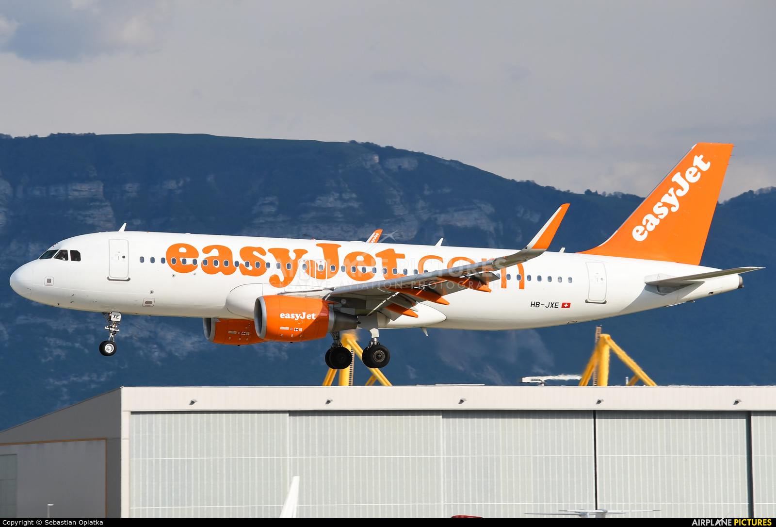 easyJet Switzerland HB-JXE aircraft at Geneva Intl