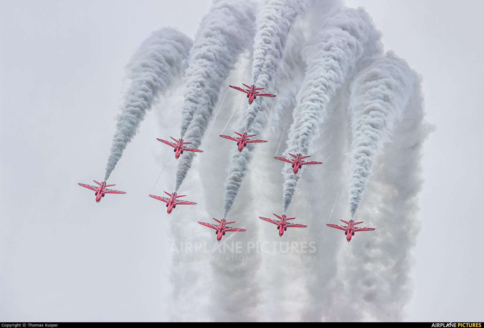 "Royal Air Force ""Red Arrows"" - aircraft at Leeuwarden"
