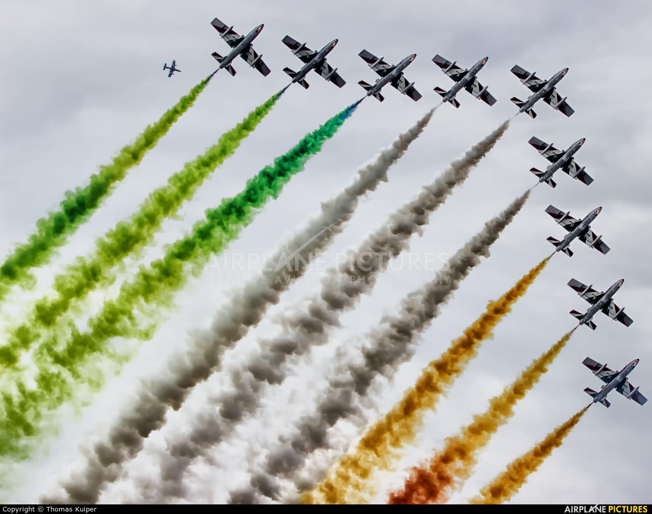 "Italy - Air Force ""Frecce Tricolori"" - aircraft at Leeuwarden"