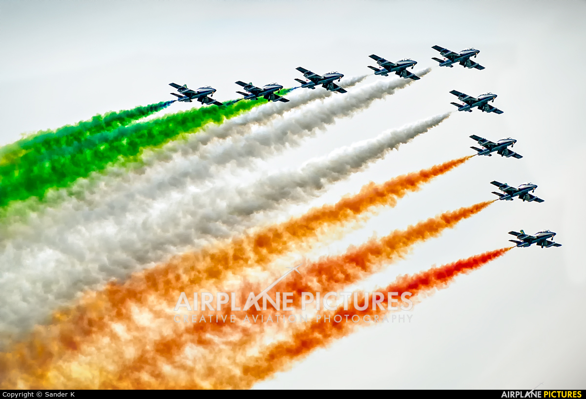 "Italy - Air Force ""Frecce Tricolori"" - aircraft at Leeuwarden"