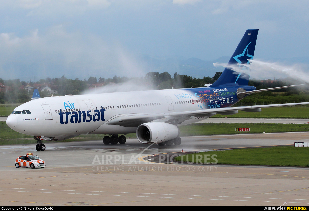c gtsr air transat airbus a330 200 at zagreb photo id 736187 airplane pictures net