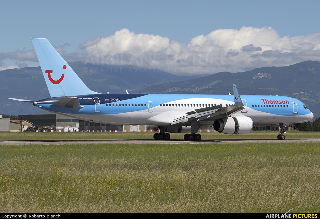 Thomson/Thomsonfly G-OOBC aircraft at Verona - Villafranca