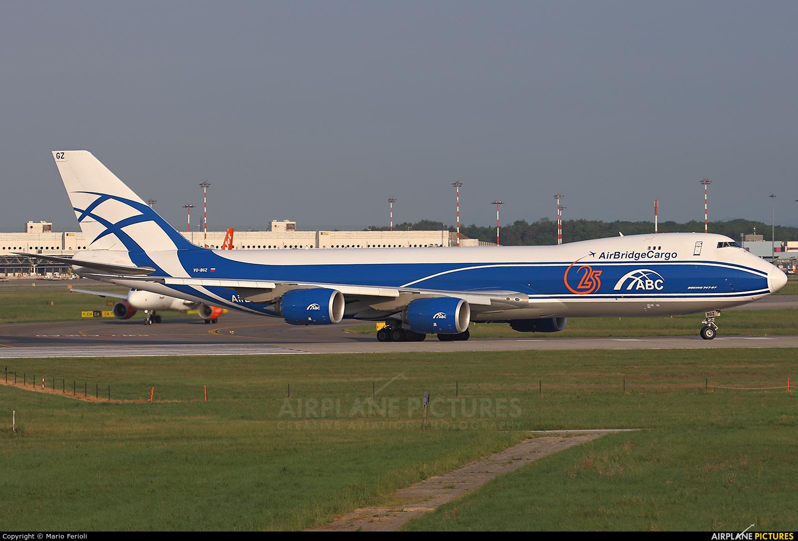 Air Bridge Cargo VQ-BGZ aircraft at Milan - Malpensa