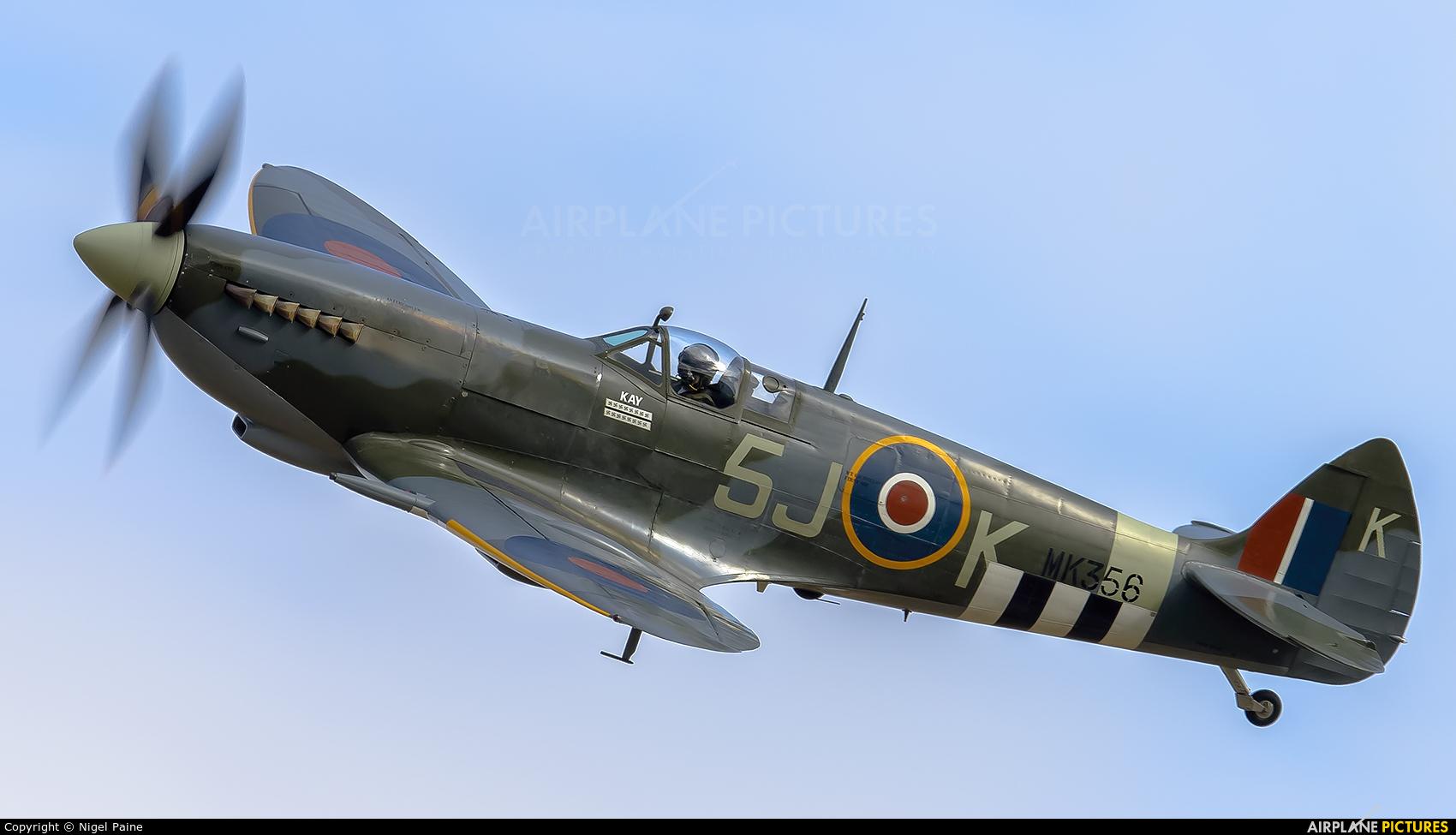 "Royal Air Force ""Battle of Britain Memorial Flight&quot MK356 aircraft at Cosby-Foxlands Farm Airstrip"