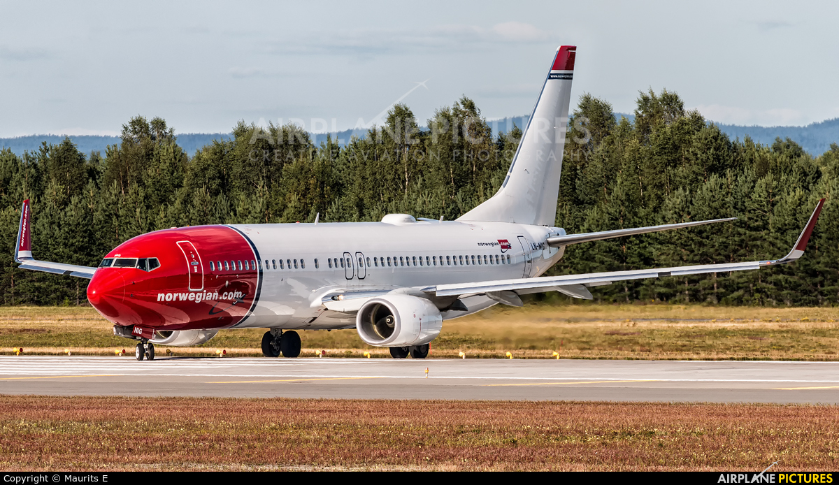 Norwegian Air Shuttle LN-NIG aircraft at Oslo - Gardermoen