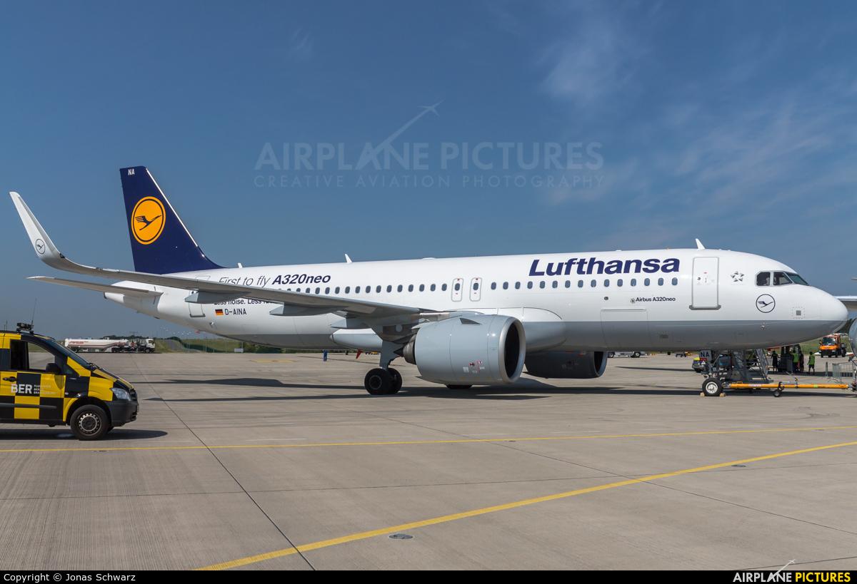 Lufthansa D-AINA aircraft at Berlin - Schönefeld