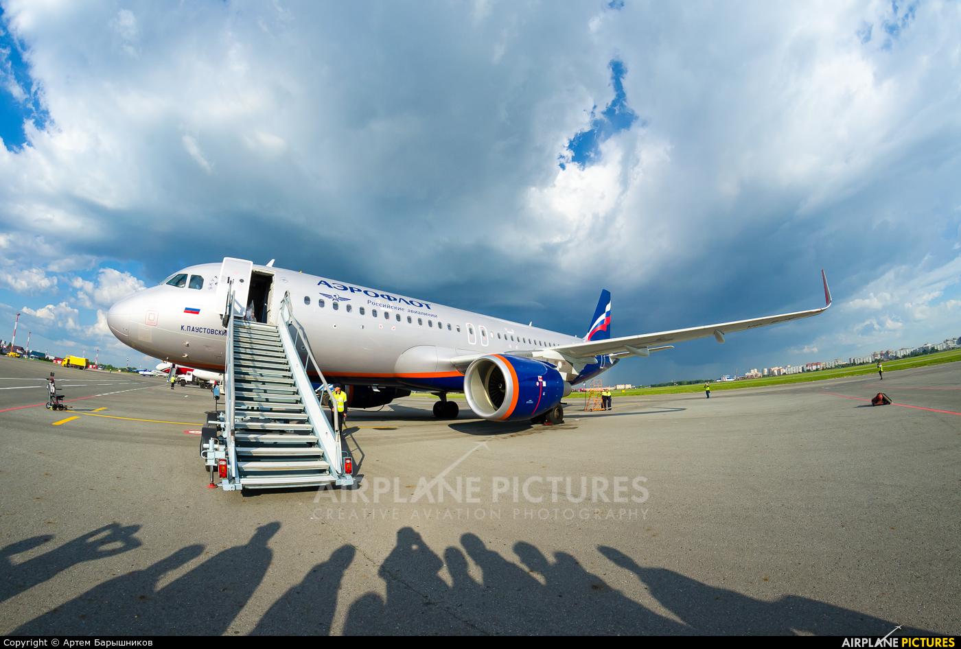 Aeroflot VP-BJW aircraft at Omsk Tsentralny