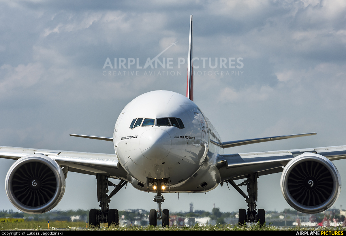 Emirates Airlines A6-EGN aircraft at Warsaw - Frederic Chopin
