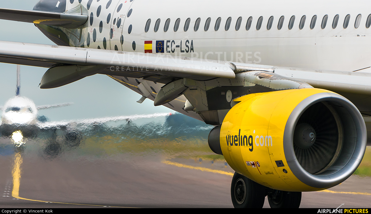Vueling Airlines EC-LSA aircraft at Amsterdam - Schiphol