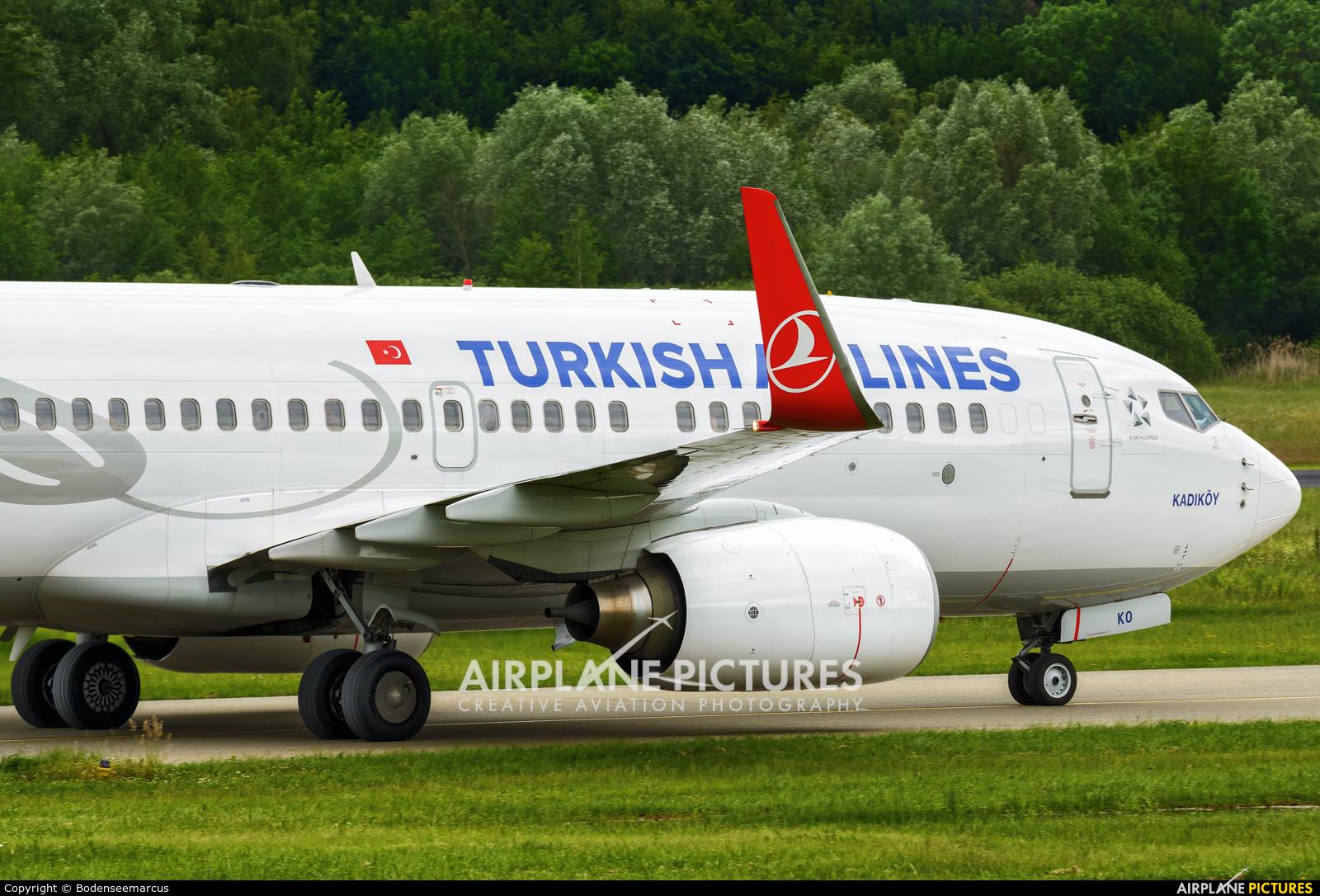 Turkish Airlines TC-JKO aircraft at Friedrichshafen