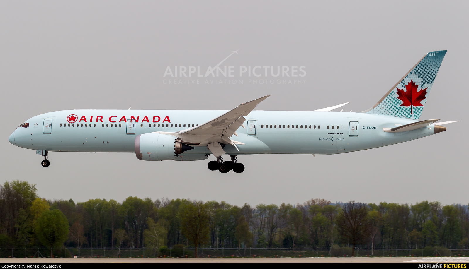 Air Canada C-FNOH aircraft at Munich