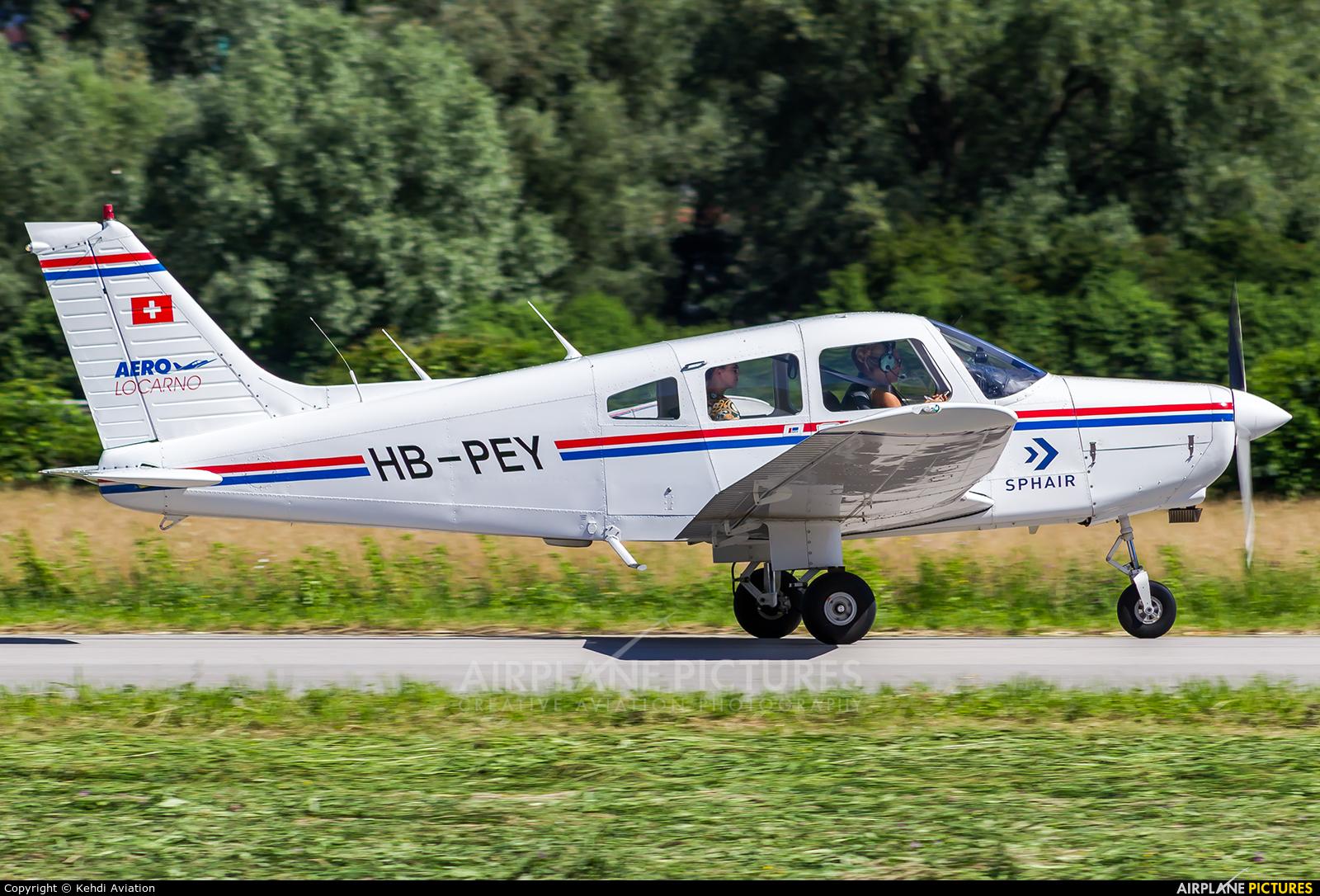 Private HB-PEY aircraft at Locarno