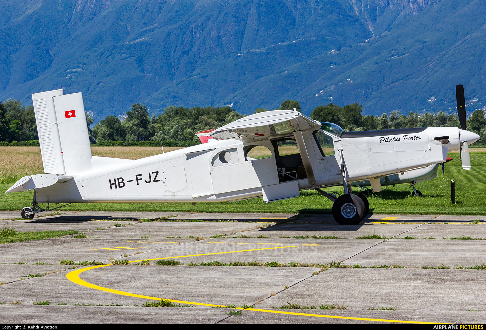 RUAG HB-FJZ aircraft at Locarno