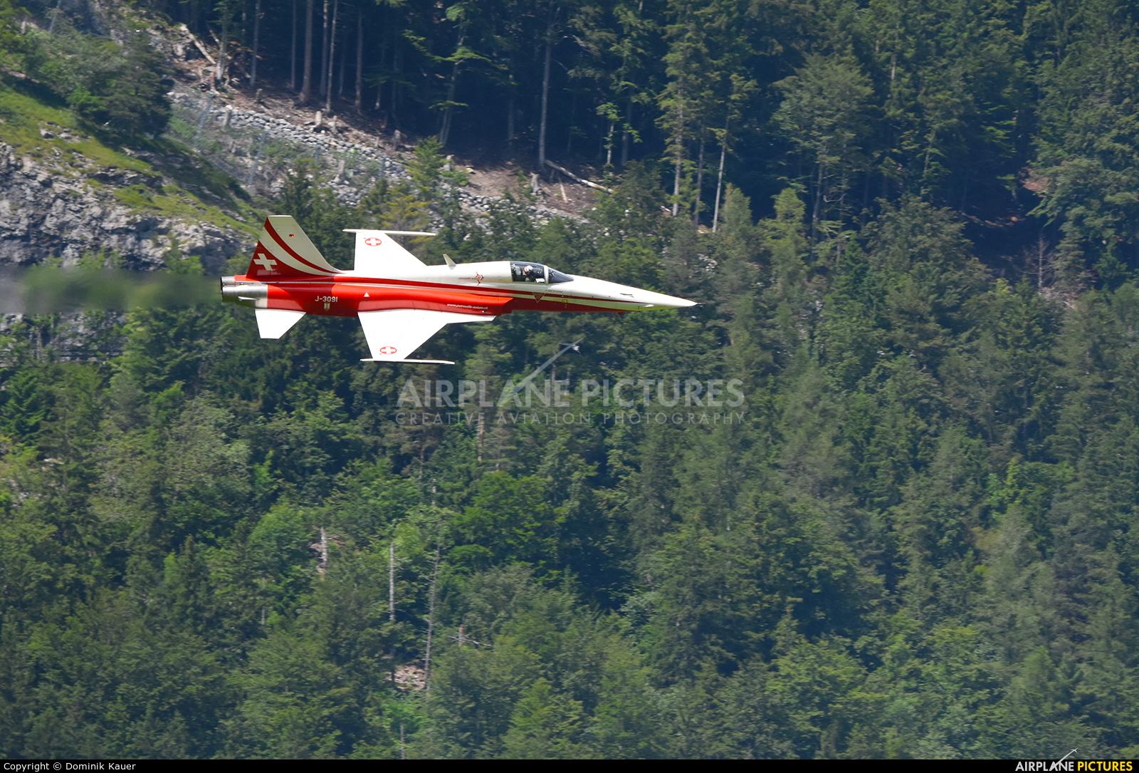 Switzerland - Air Force:  Patrouille de Suisse J-3091 aircraft at Meiringen