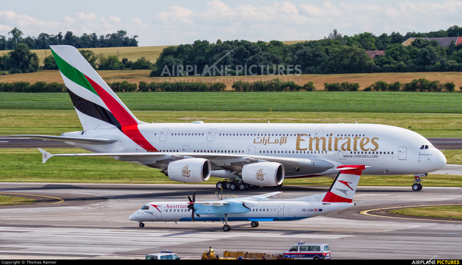 Emirates Airlines A6-EUB aircraft at Vienna - Schwechat