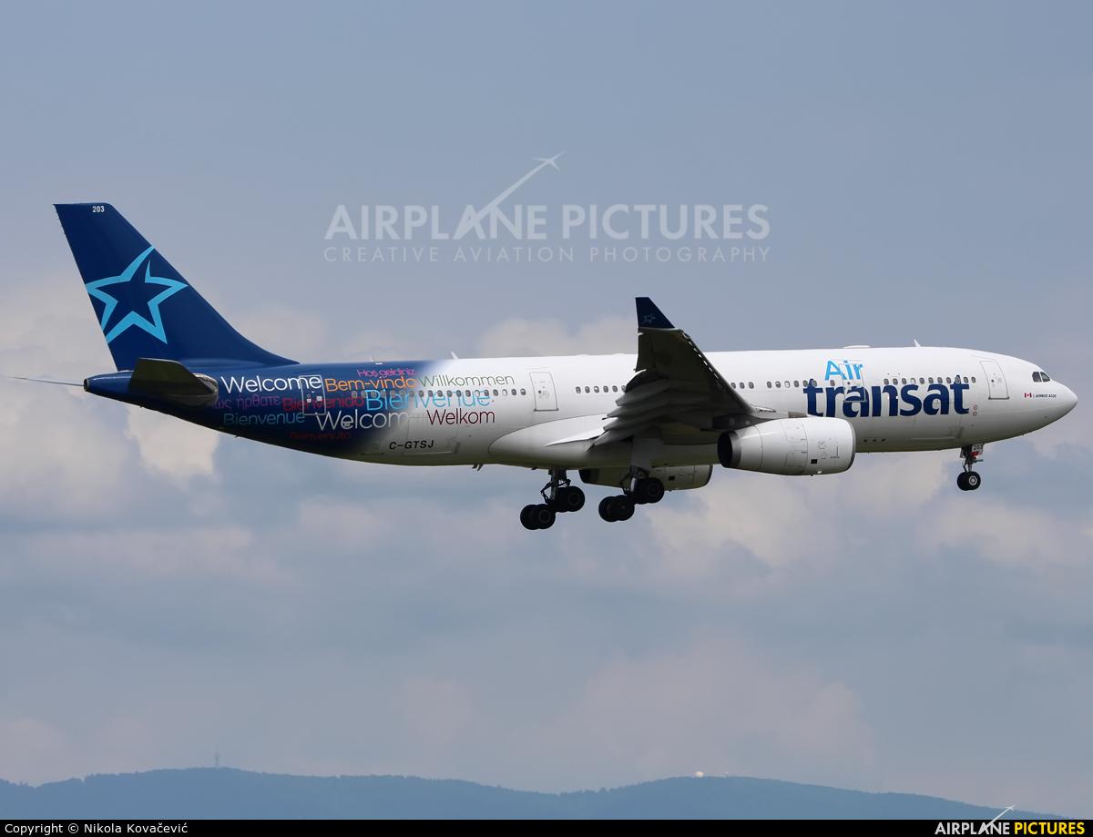 Air Transat C-GTSJ aircraft at Zagreb