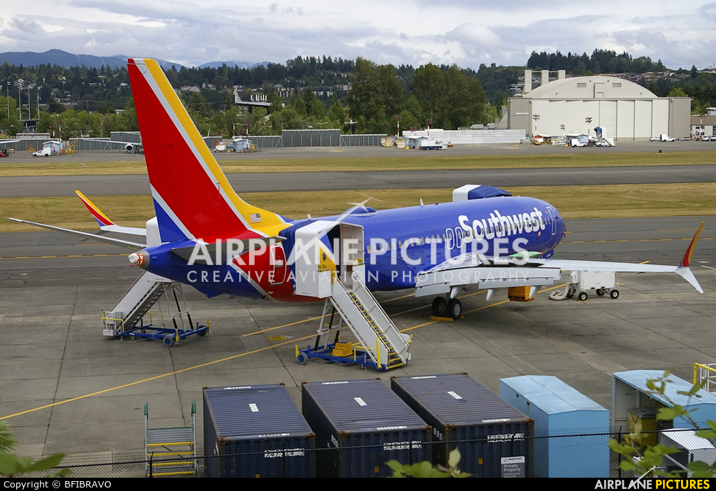 Southwest Airlines N8706W aircraft at Renton Municipal