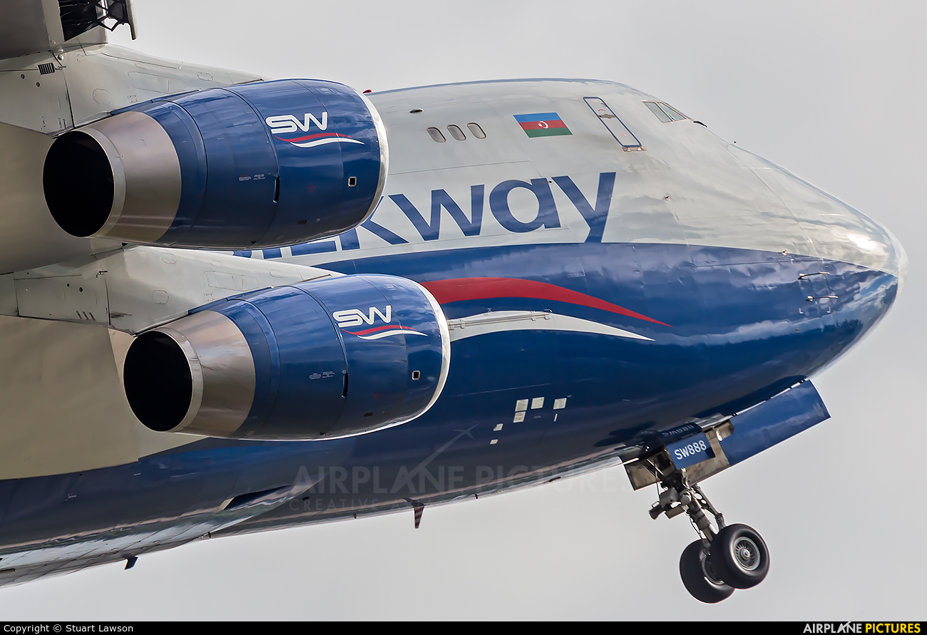 Silk Way Airlines 4K-SW888 aircraft at East Midlands