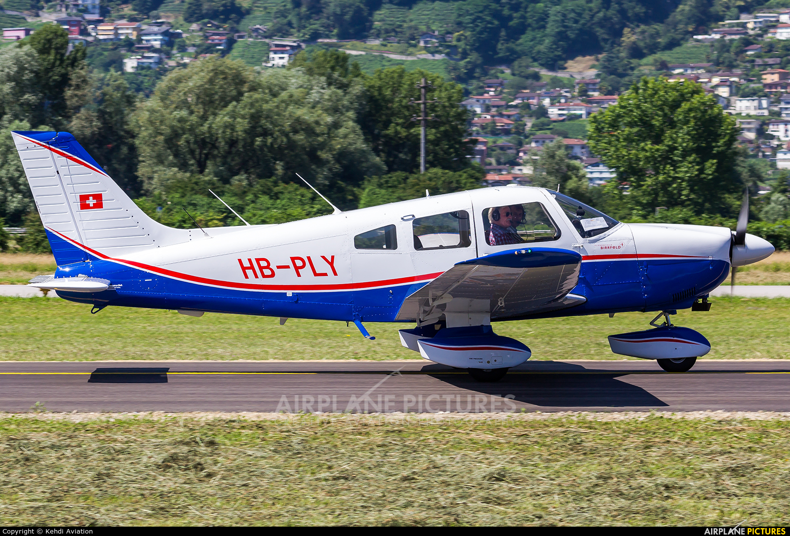 Private HB-PLY aircraft at Locarno