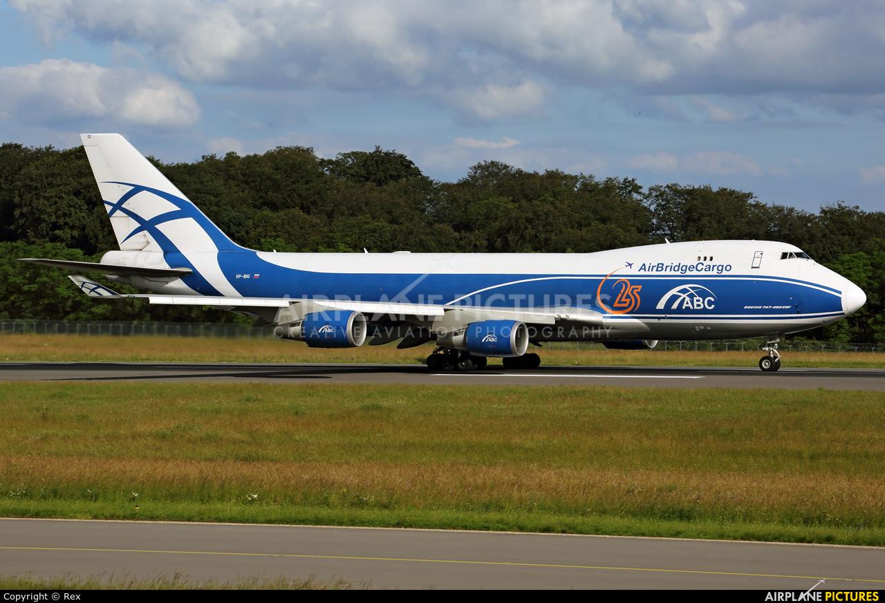 Air Bridge Cargo VP-BIG aircraft at Luxembourg - Findel