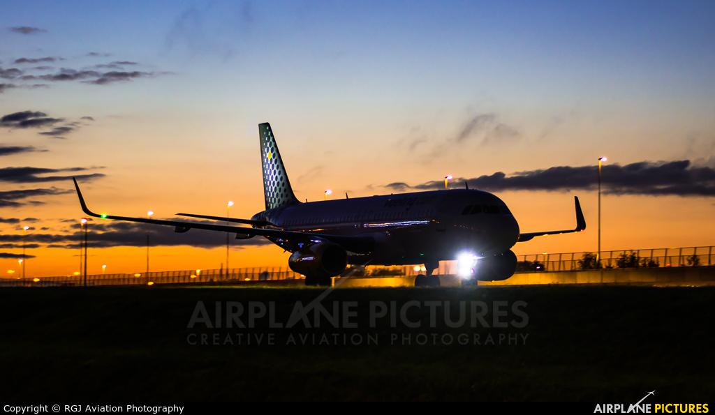 Vueling Airlines EC-JTQ aircraft at Amsterdam - Schiphol