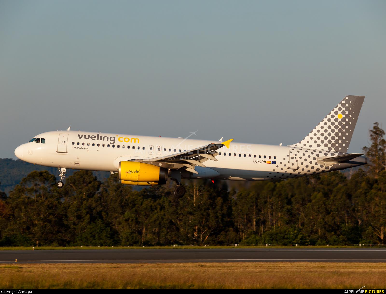 Vueling Airlines EC-LRM aircraft at Santiago de Compostela