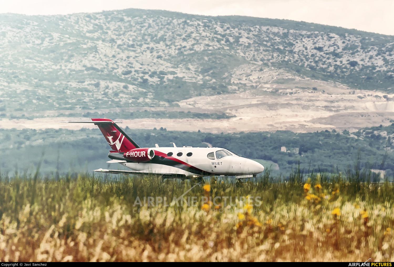 Private F-HOUR aircraft at Perpignan - Rivesaltes (Llabanere)
