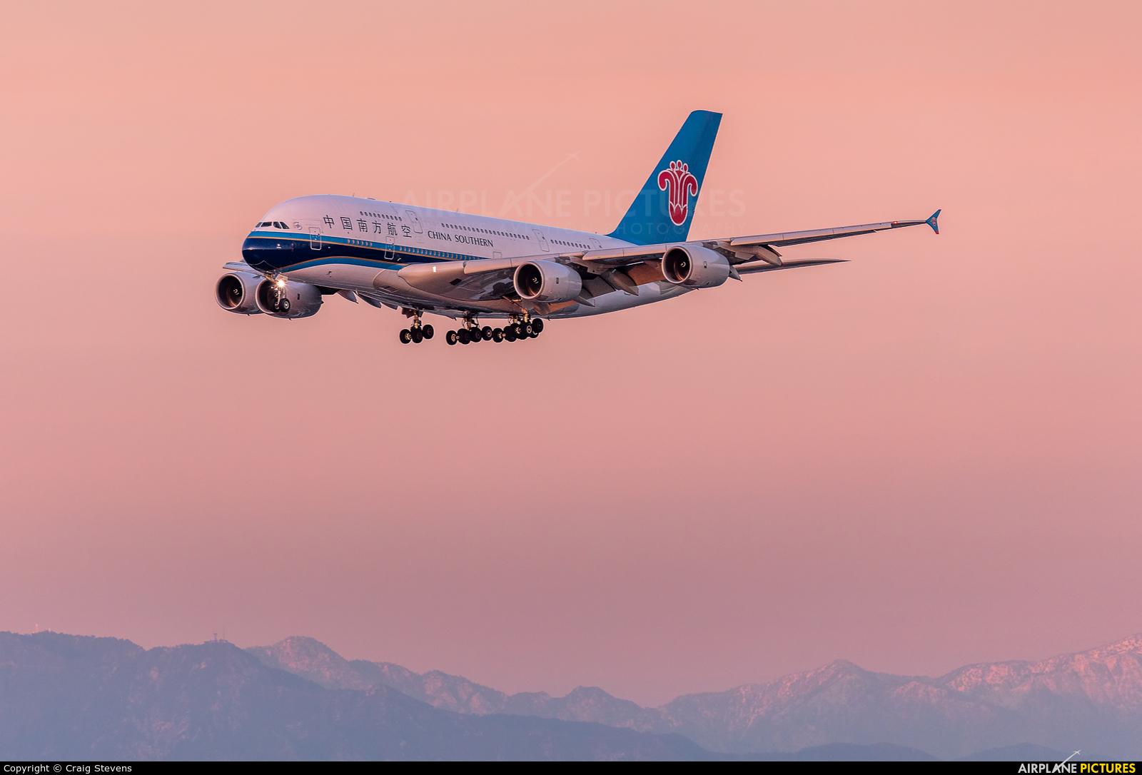 China Southern Airlines B-6138 aircraft at Los Angeles Intl