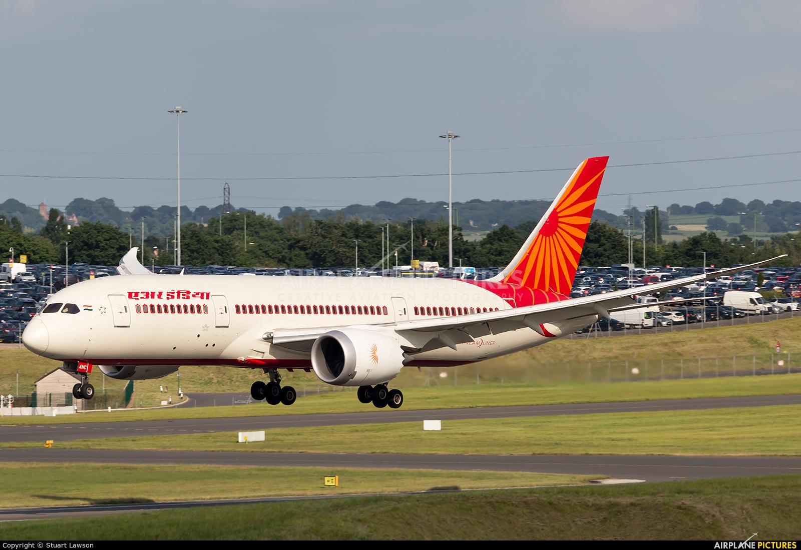 Air India VT-ANC aircraft at Birmingham