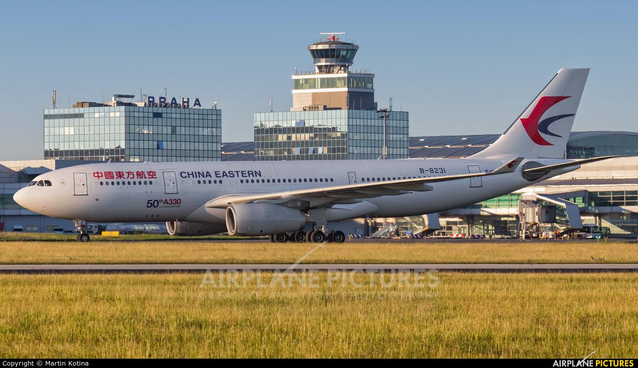 China Eastern Airlines B-8231 aircraft at Prague - Václav Havel