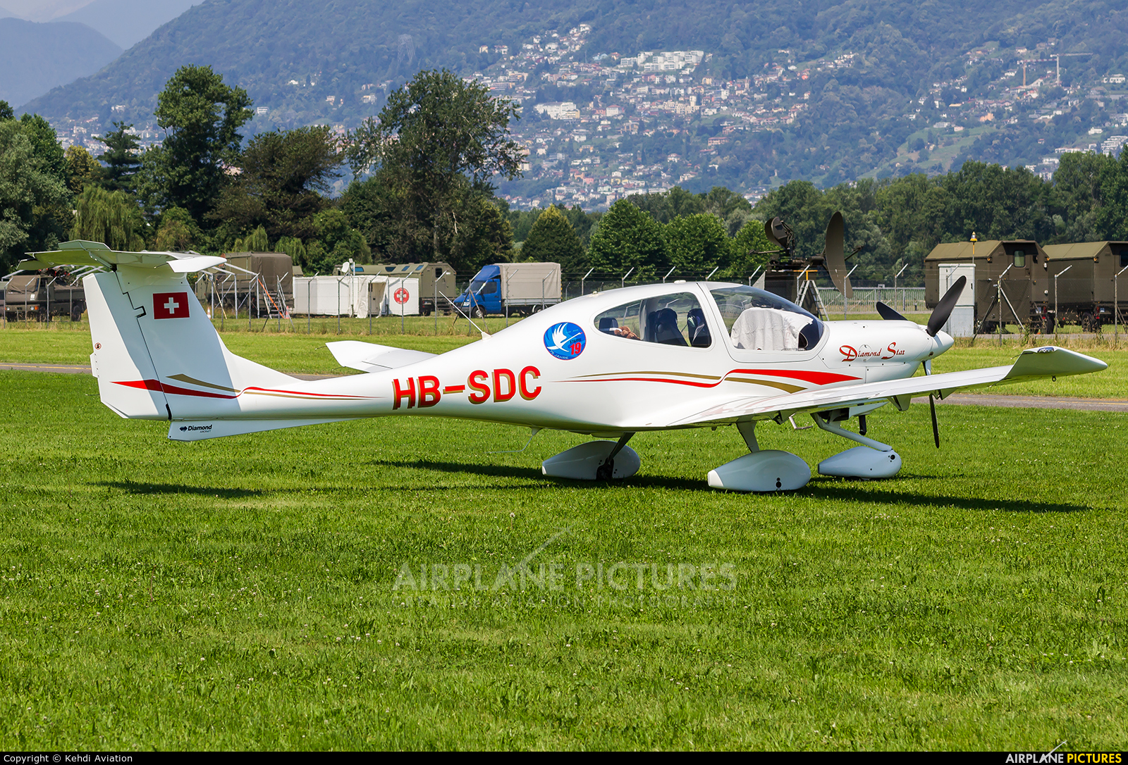 Private HB-SDC aircraft at Locarno