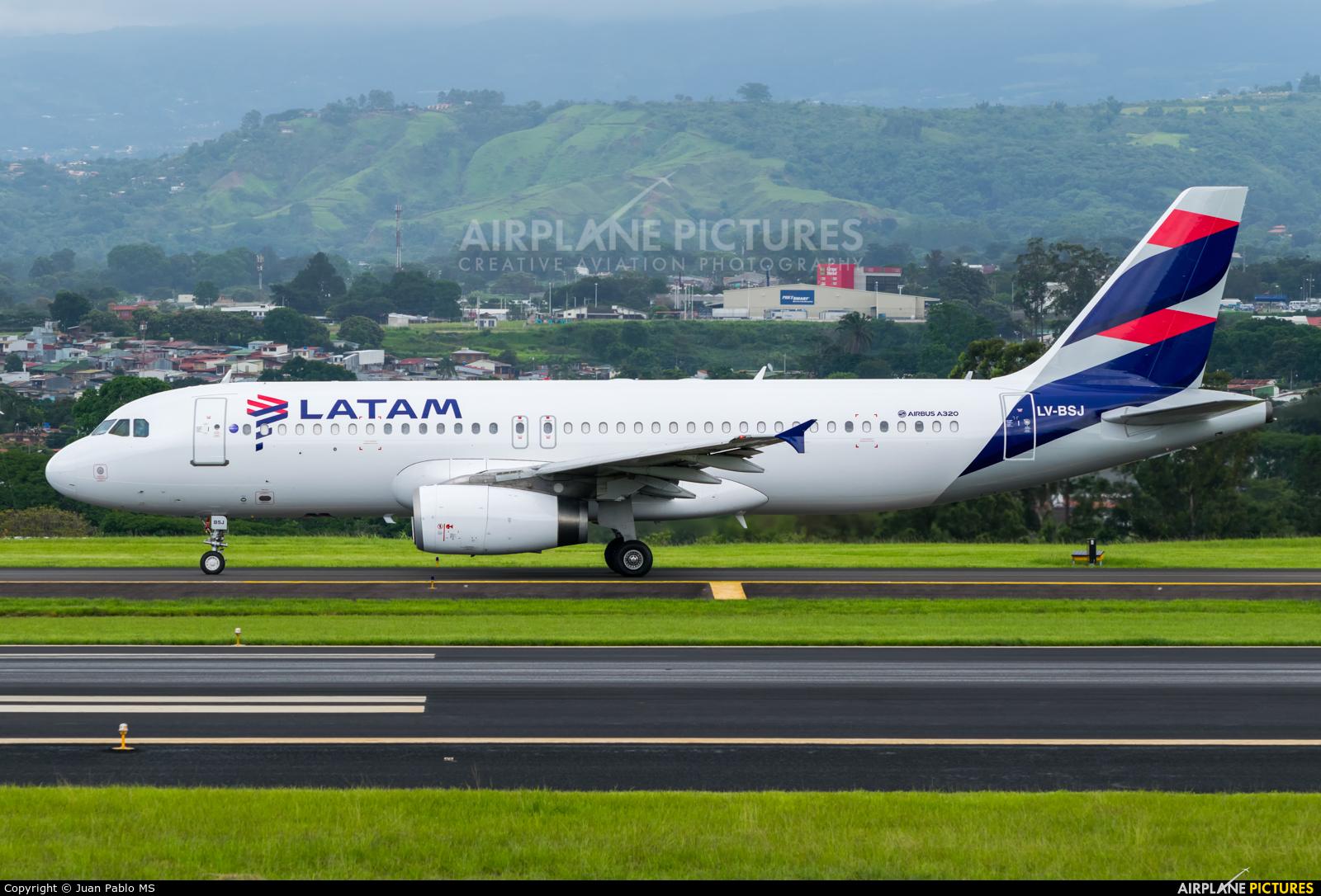 LATAM LV-BSJ aircraft at San Jose - Juan Santamaría Intl