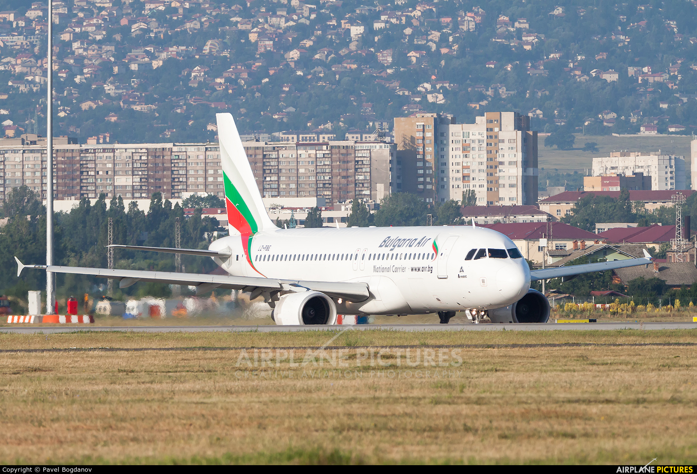 Bulgaria Air LZ-FBE aircraft at Sofia