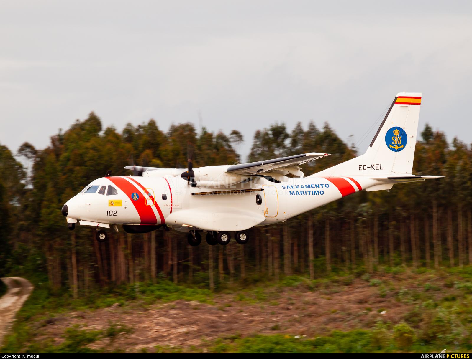 Spain - Coast Guard EC-KEL aircraft at Santiago de Compostela