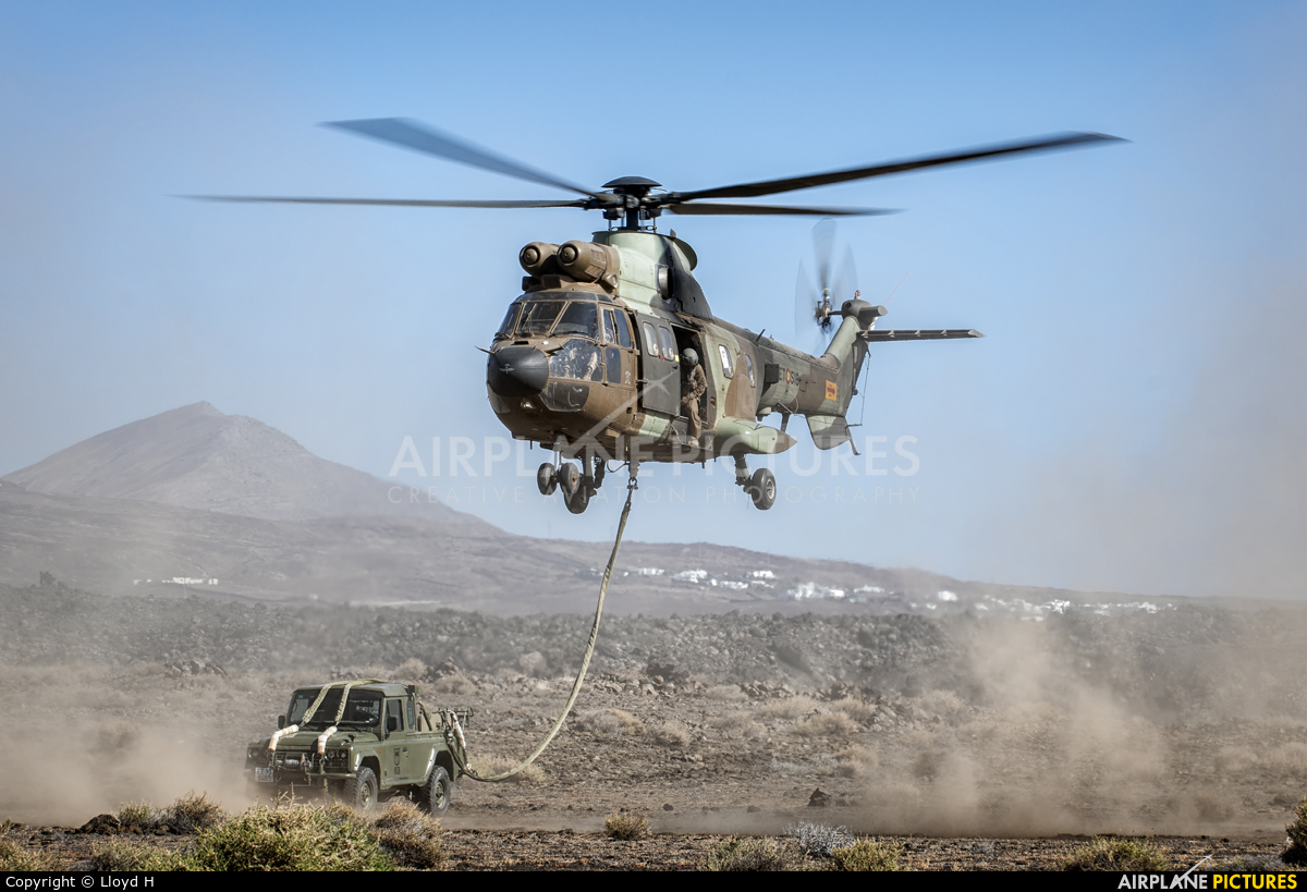 Spain - Army ET-518 aircraft at Lanzarote - Off Airport