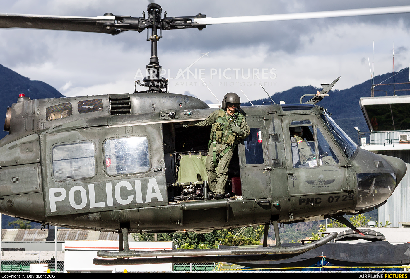 Colombia - Police PNC-0729 aircraft at Chía