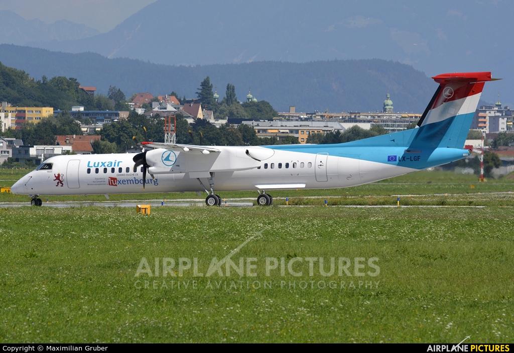 Luxair LX-LGF aircraft at Innsbruck