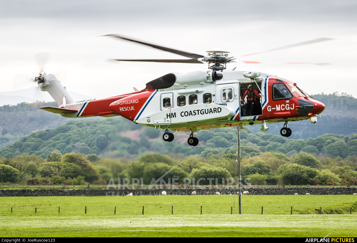 Bristow Helicopters G-MCGJ aircraft at Off Airport - Wales