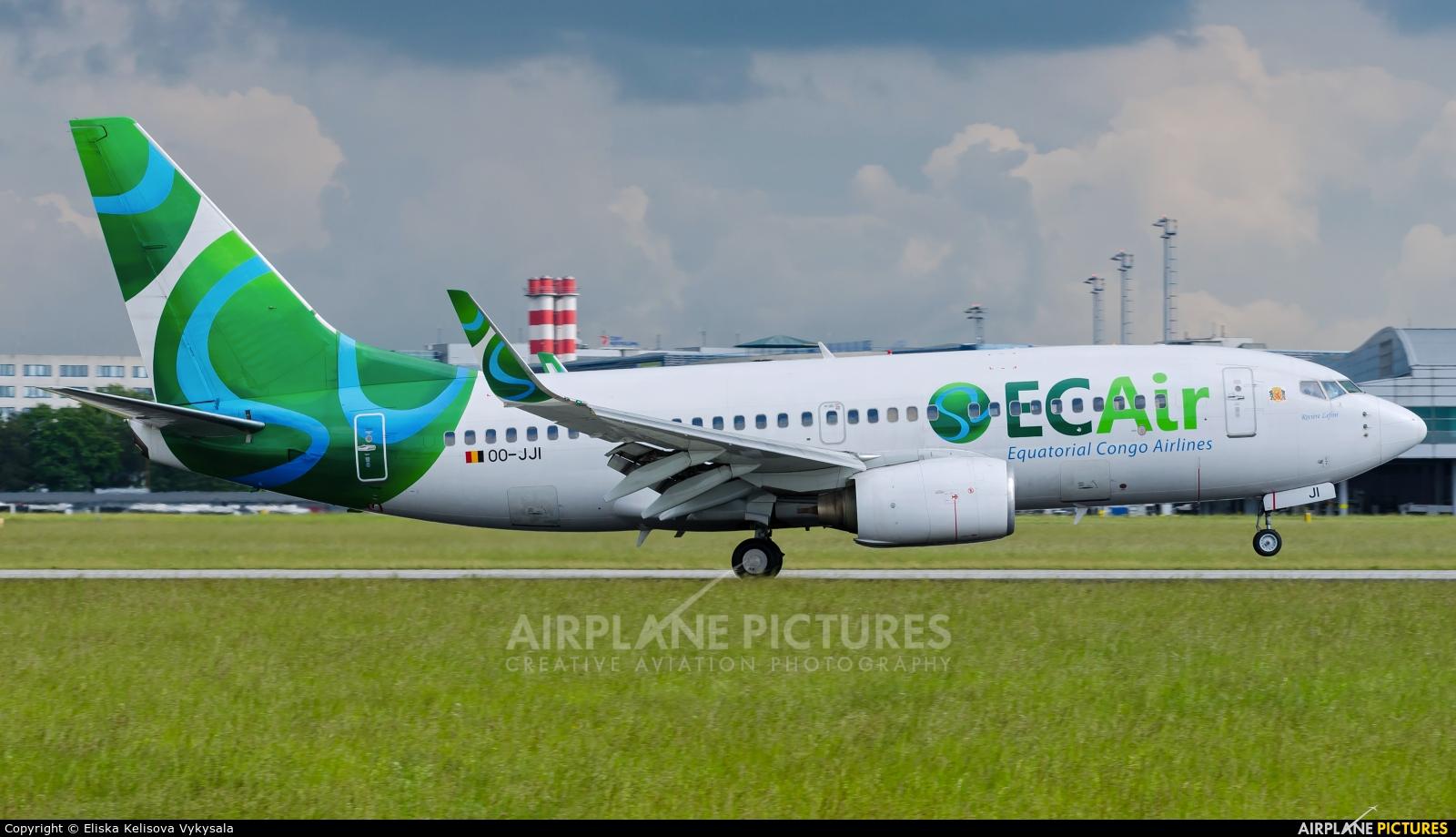 EC Air - Equatorial Congo Airlines OO-JJI aircraft at Prague - Václav Havel
