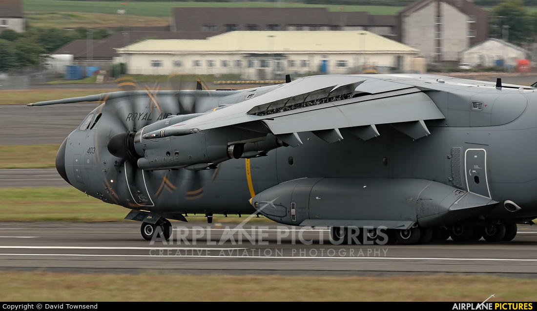 Royal Air Force ZM403 aircraft at Prestwick