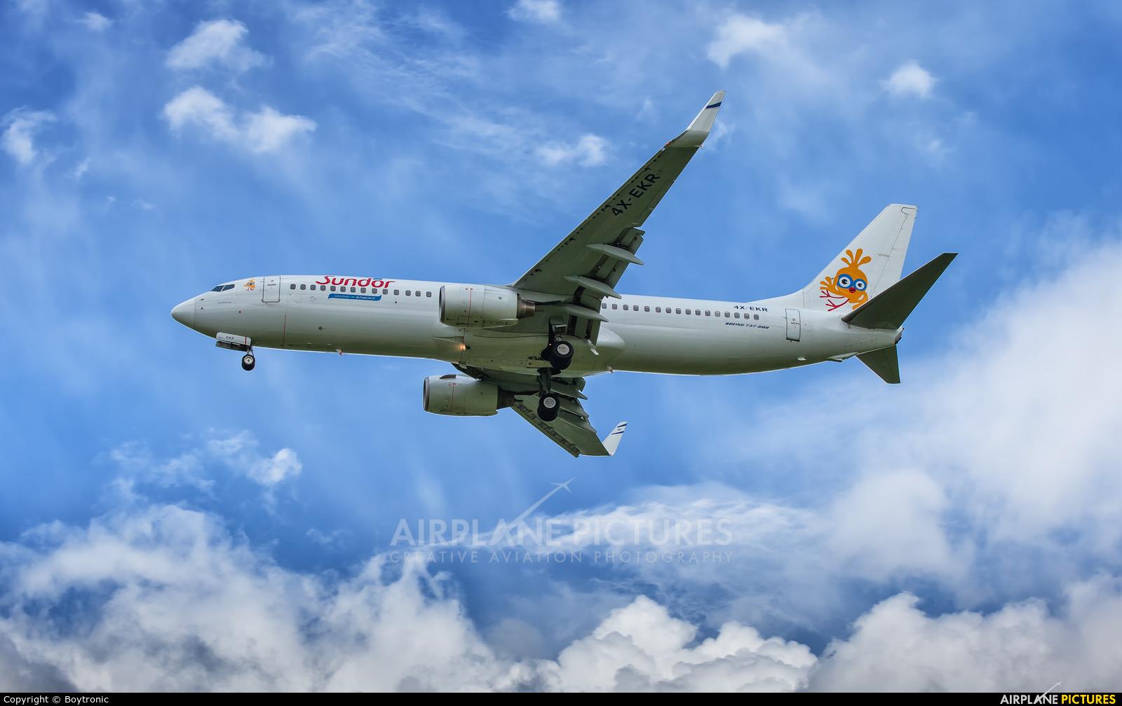 El Al Israel Airlines 4X-EKR aircraft at Zagreb