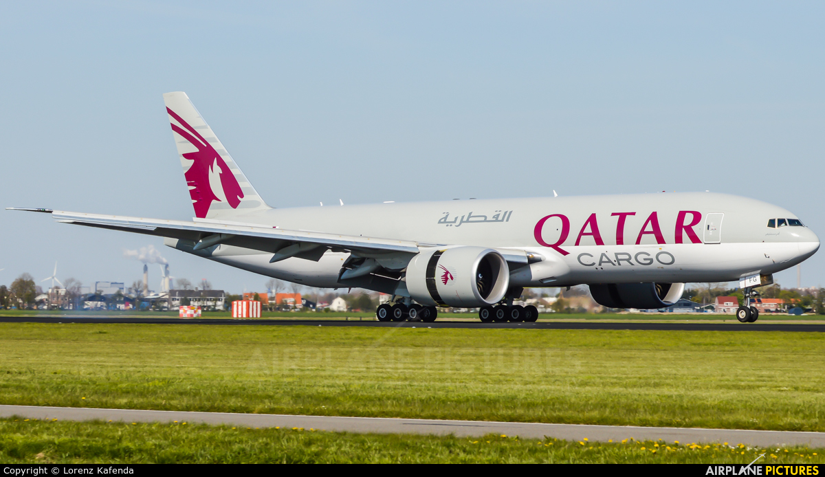 Qatar Airways Cargo A7-BFG aircraft at Amsterdam - Schiphol