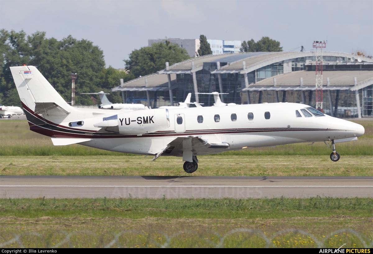 Air Pink YU-SMK aircraft at Kiev - Zhulyany