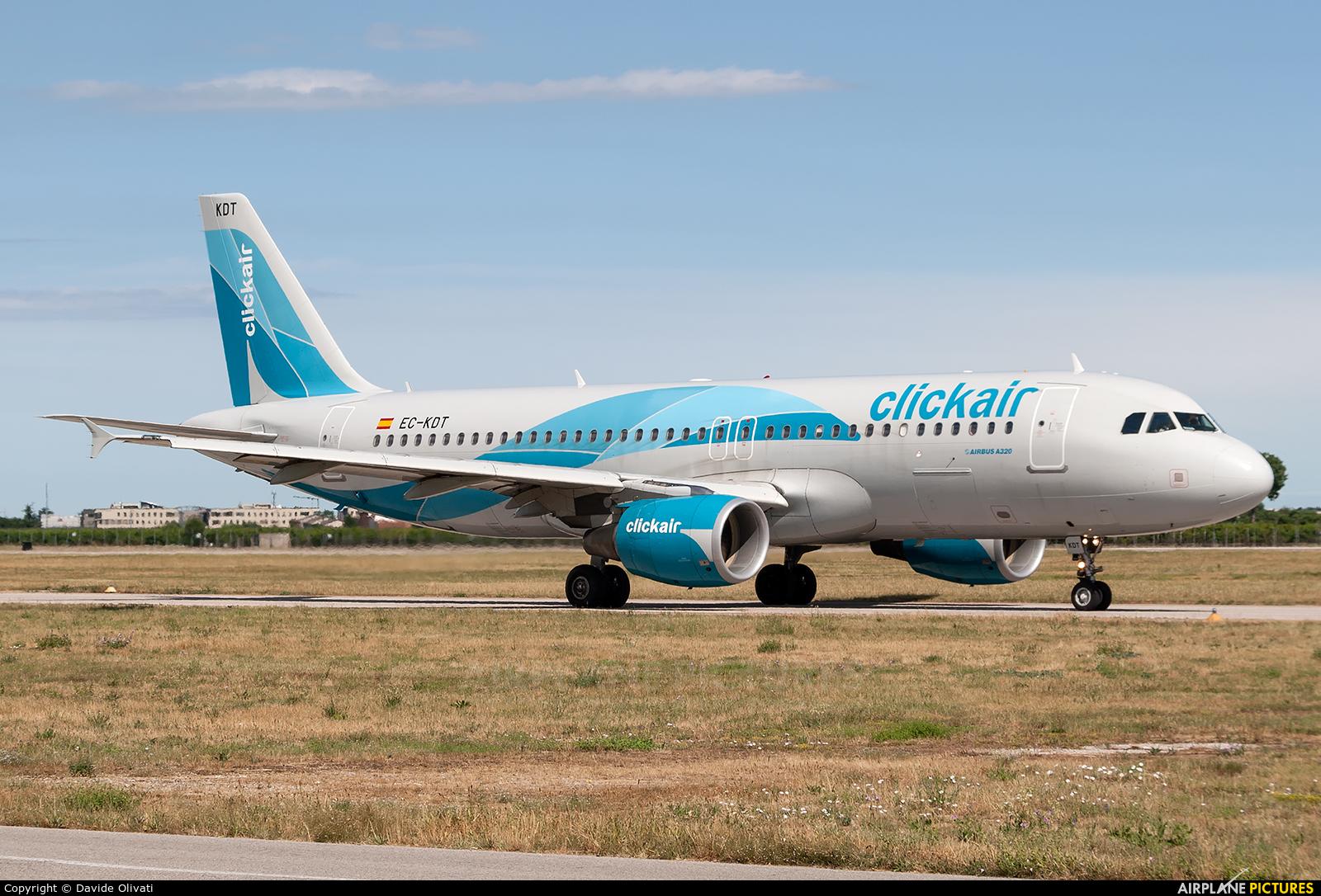 Clickair EC-KDT aircraft at Verona - Villafranca