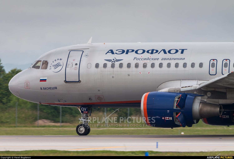 Aeroflot VP-BQV aircraft at Sofia