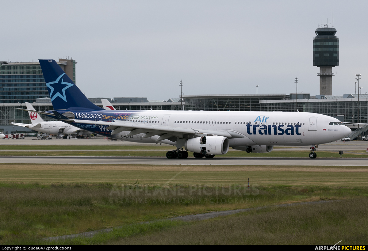 c gtsj air transat airbus a330 200 at vancouver intl bc photo id 731825 airplane pictures net