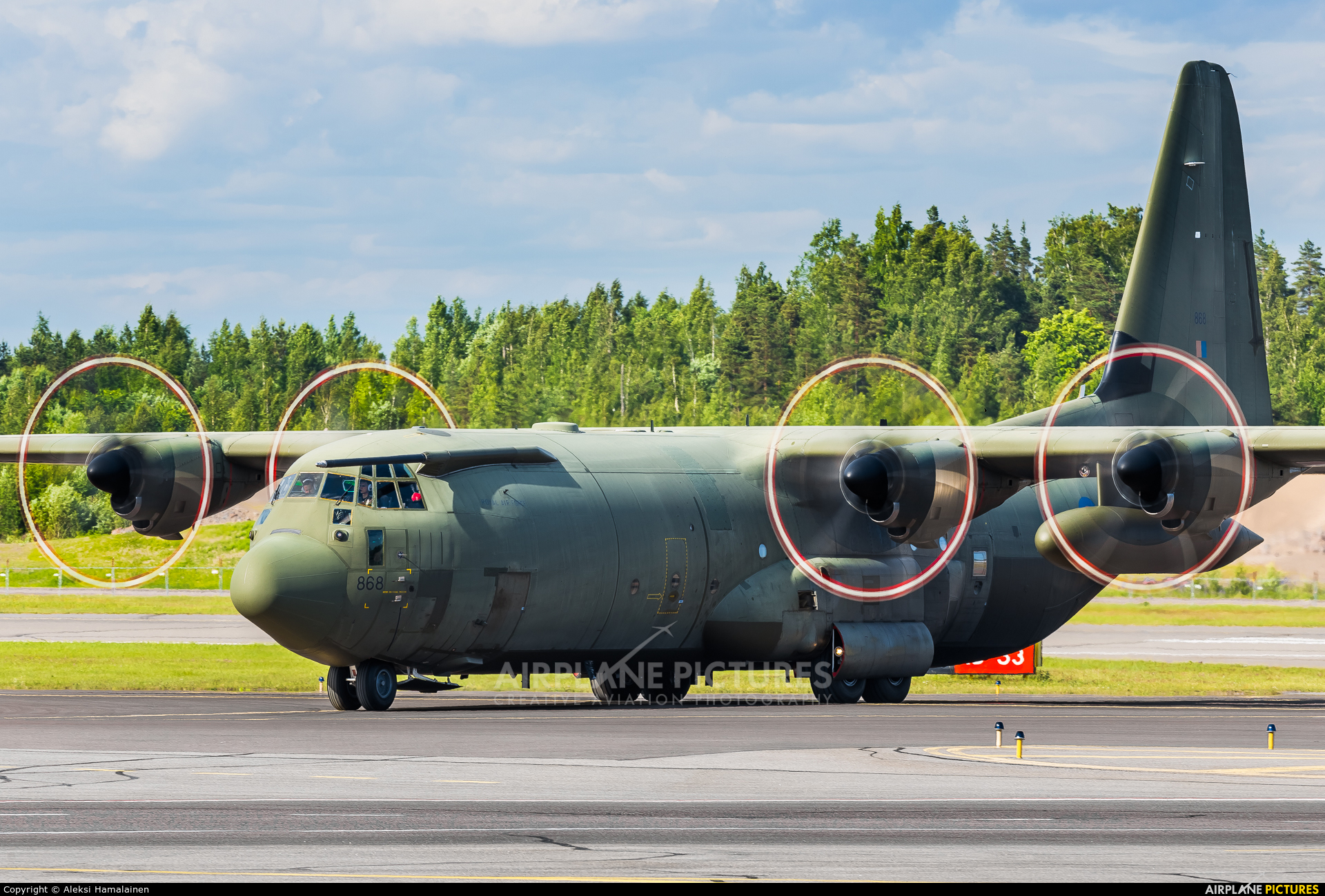 Royal Air Force ZH868 aircraft at Helsinki - Vantaa
